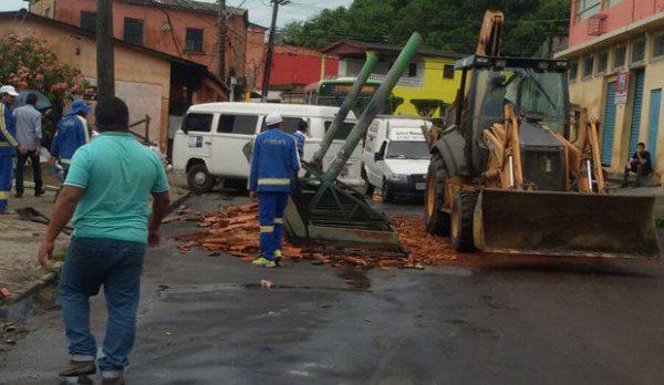 Temporal provoca quedas de árvores e destelhamento de casas