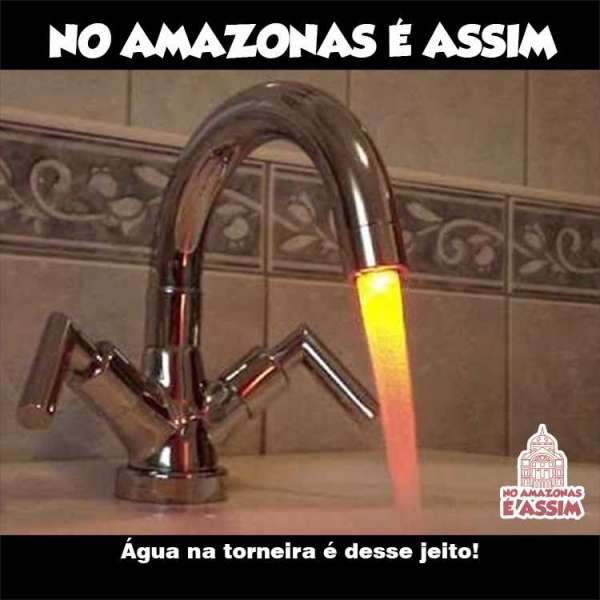 No Amazonas é Assim - Água na torneira é desse jeito!