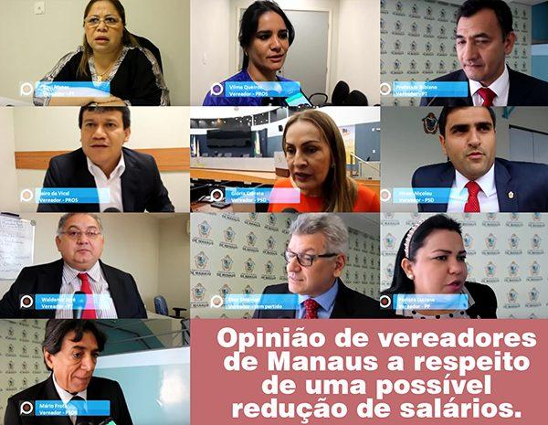 Vereadores de Manaus falam se aceitariam reduzir salários