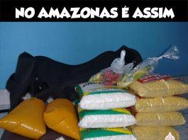 Quando amazonense vai viajar para outro estado, kit de sobrevivência... Um pedacinho do amazonas.