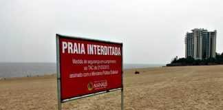Praia da Ponta Negra interditada