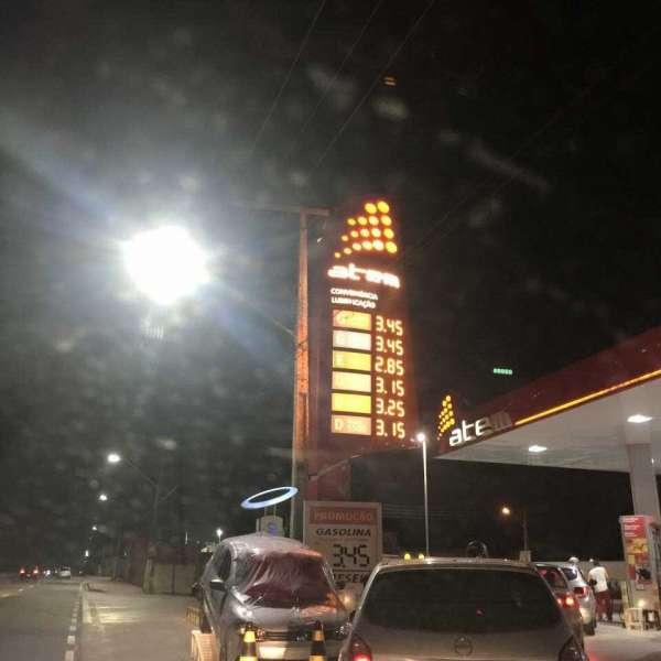 Gasolina a R$3,45