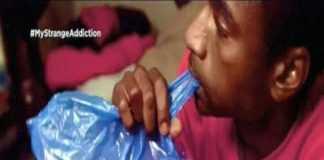 viciado em comer sacos plásticos desde os sete anos