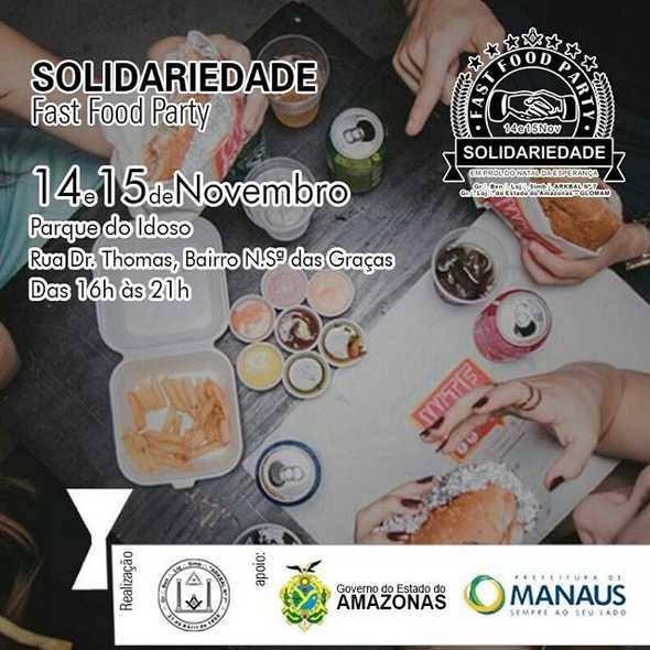 Loja maçônica promove Fast Food Party SOLIDÁRIO