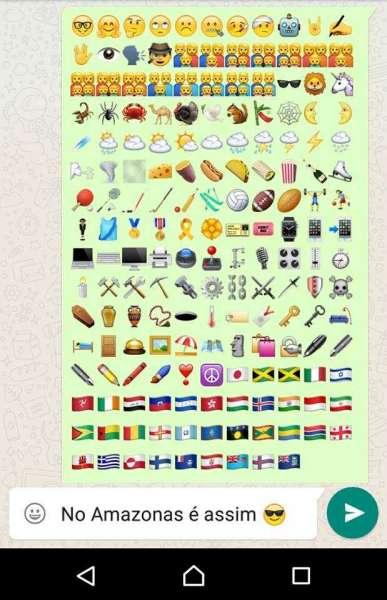 Prévia de novos emoticons