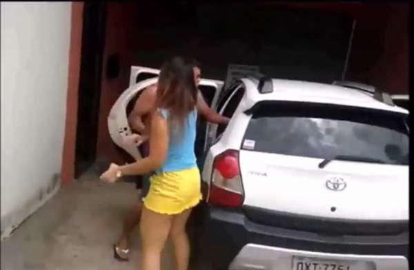 Novo caso de traição jovem casada flagrada no motel