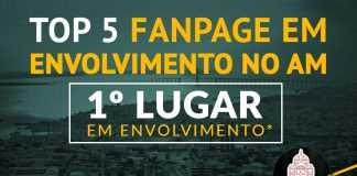 Top 5 fanpage em envolvimento no Amazonas