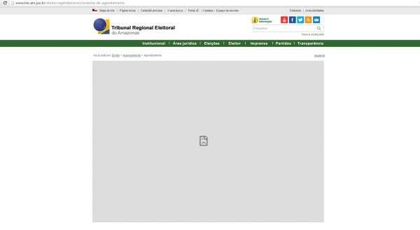 Site do TRE-AM não está acessível para o agendamento do recadastramento biométrico