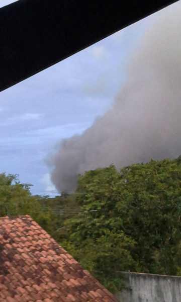 A fumaça assustou moradores do local