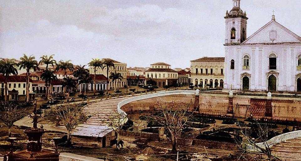 LARGO DA IMPERATRIZ MANÁOS - ALAMEDA DA PALMEIRAS IMPERIAIS MANAUS 1896