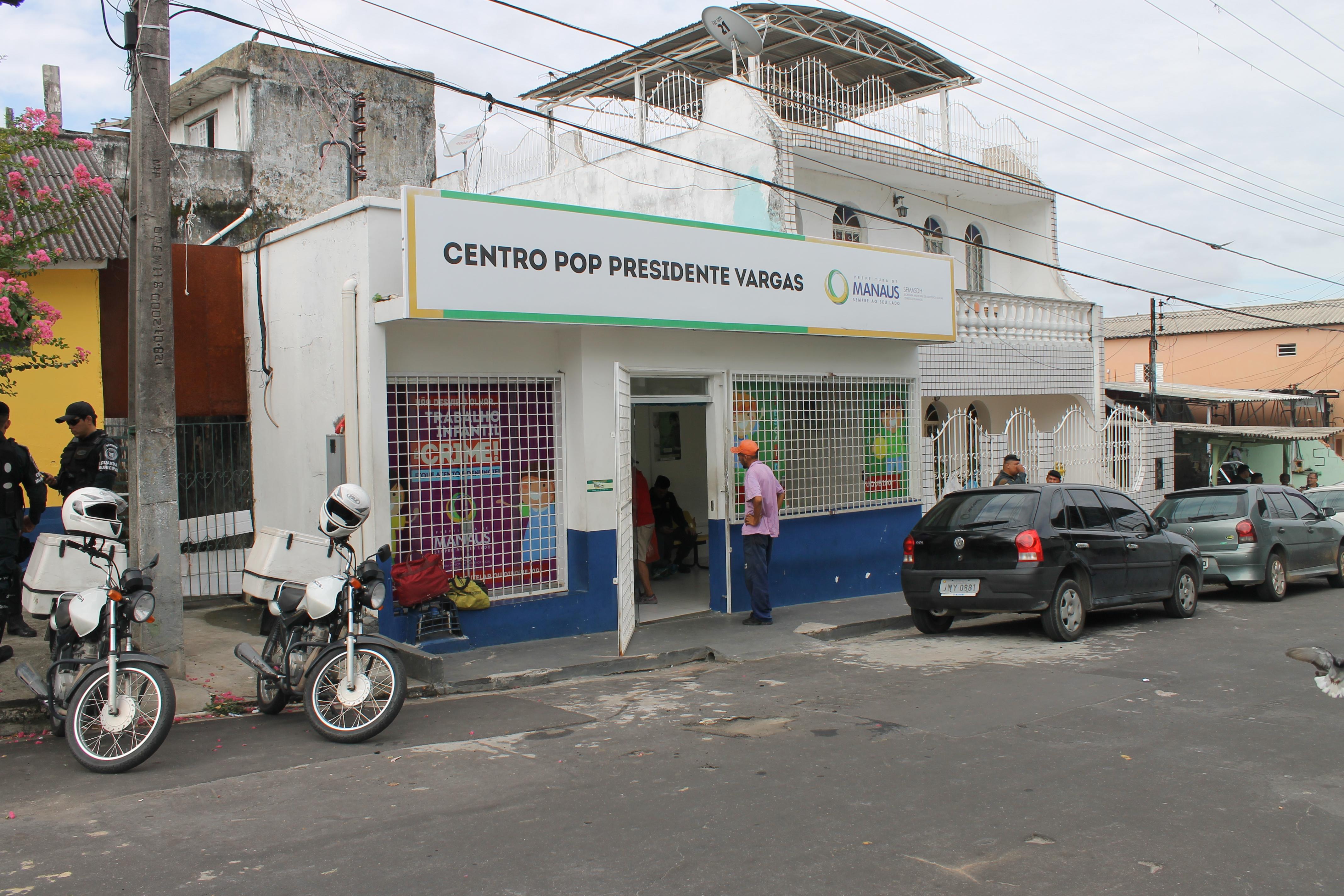 Manifestação contra a permanência do Centro Pop no bairro Presidente Vargas