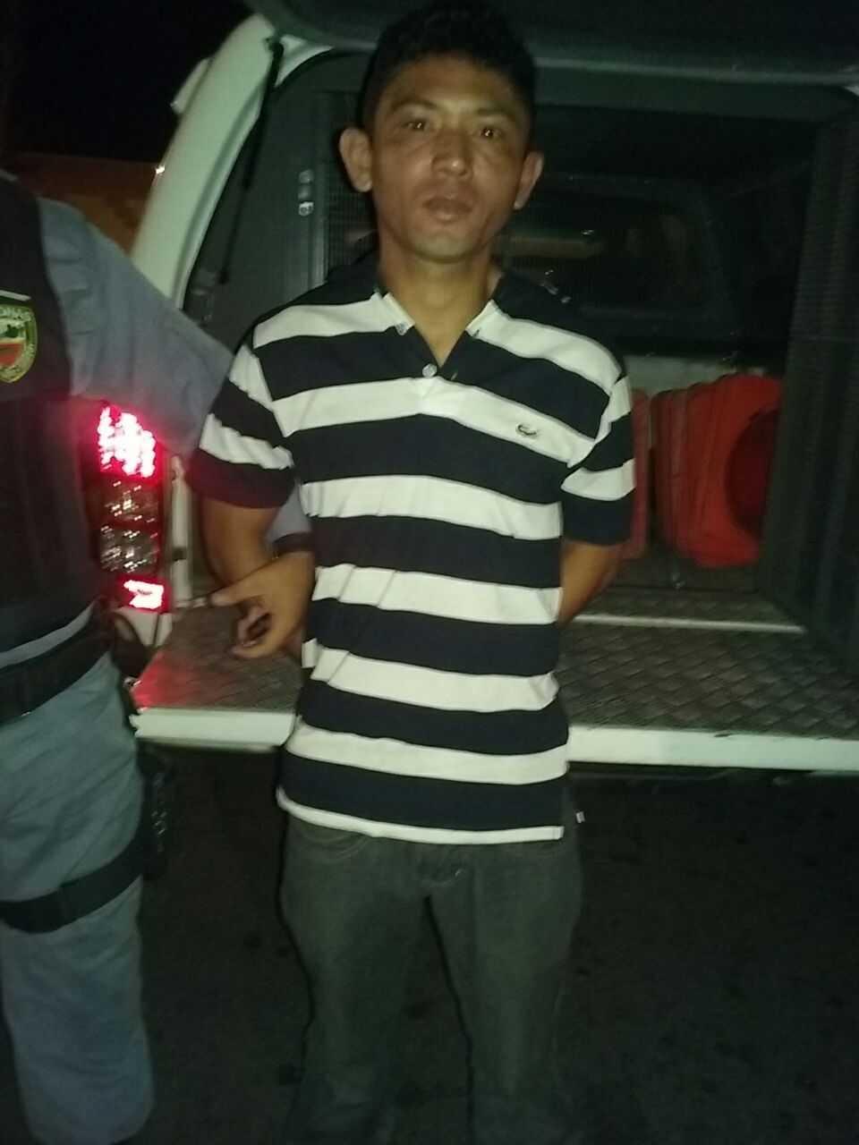 Mergson Reis de Oliveira, 27, foi preso depois de assaltar, com uma arma de brinquedo, loja no Manauara Shopping