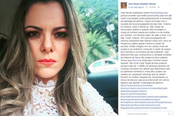 Ana Paula Valadao causa polemica ao criticar novo comercial da C&A