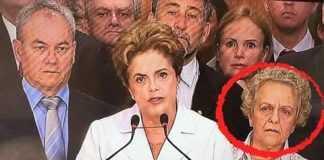 Saiba quem é aquela senhora de cabelos brancos ao lado de Dilma