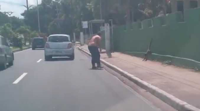 Macaco foge do Cigs após passagem de tocha em Manaus