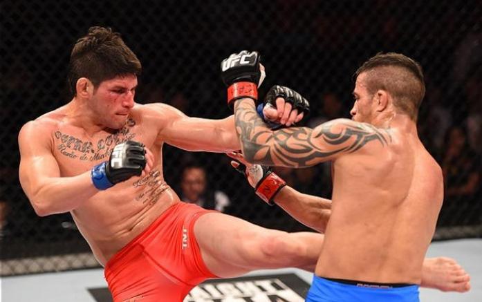 Dileno perde para 'El Toro' em luta equilibrada no UFC Fight Night