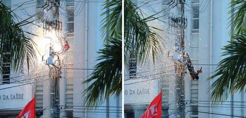 Homem escala poste ver discurso de Dilma Rousseff e morre eletrocutado