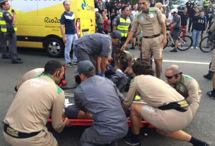 Policiais se envolvem em acidente em Tour da Tocha