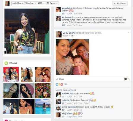 Affair de Bolt no Brasil, Jady Duarte, foi casada com chefe do tráfico no Rio