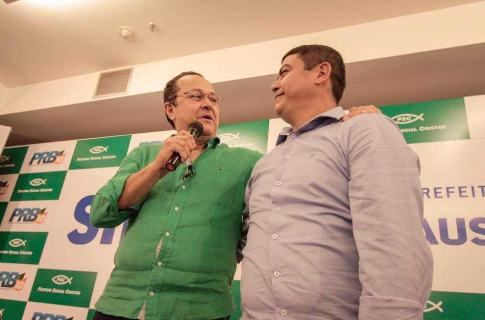 Silas Camara (PRB) apresenta Coronel Amadeu (PSC) como vice na pre candidatura a prefeitura de Manaus (42)