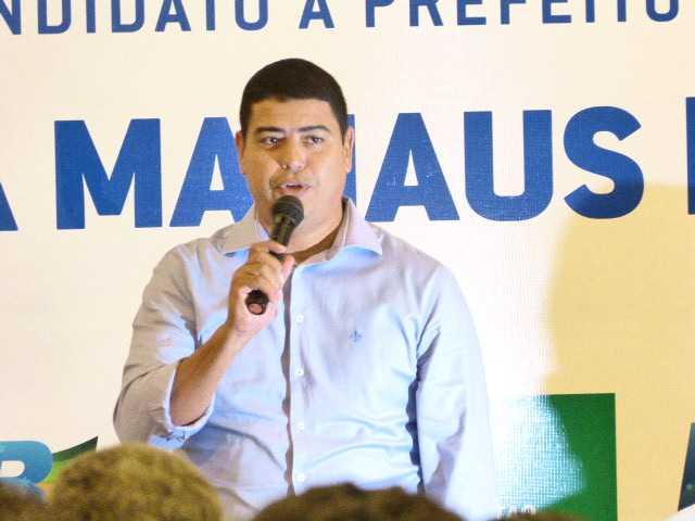 Coronel PM Amadeu Soares (PSC), vice candidato a prefeito na chapa de Silas Câmara