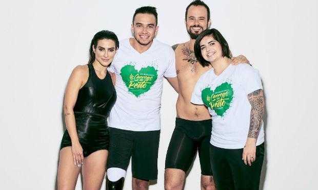 Atores da Globo representam atletas