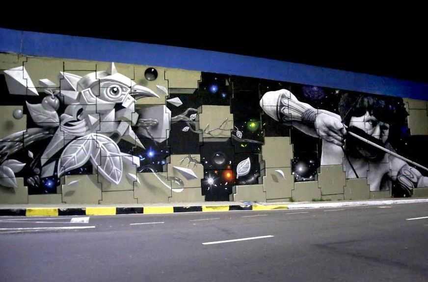 Grafite no viaduto do Coroado está entre os 5 melhores da America Latina