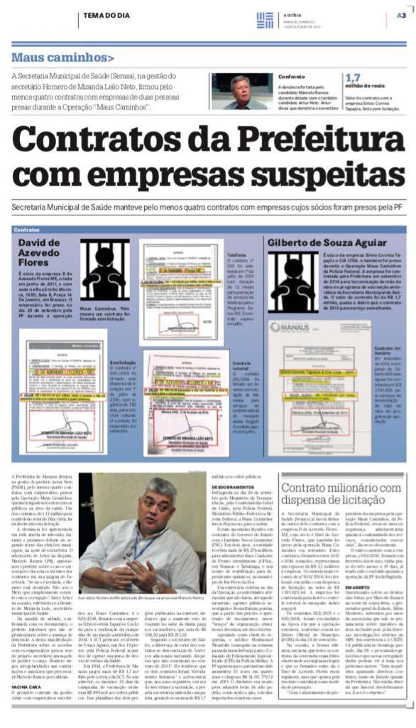 Prefeitura Municipal de Manaus tinha contrato com presos pela Polícia Federal (ACrítica)