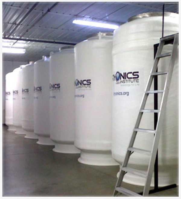 Área onde os corpos ficam preservados no Cryonics Institute!