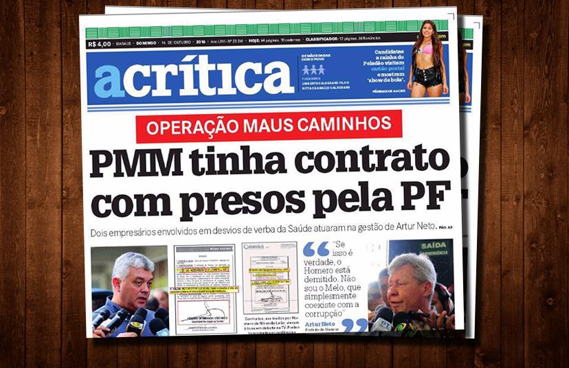 Prefeitura de Artur tinha contratos milionários Com empresários presos pela Polícia Federal (ACrítica)