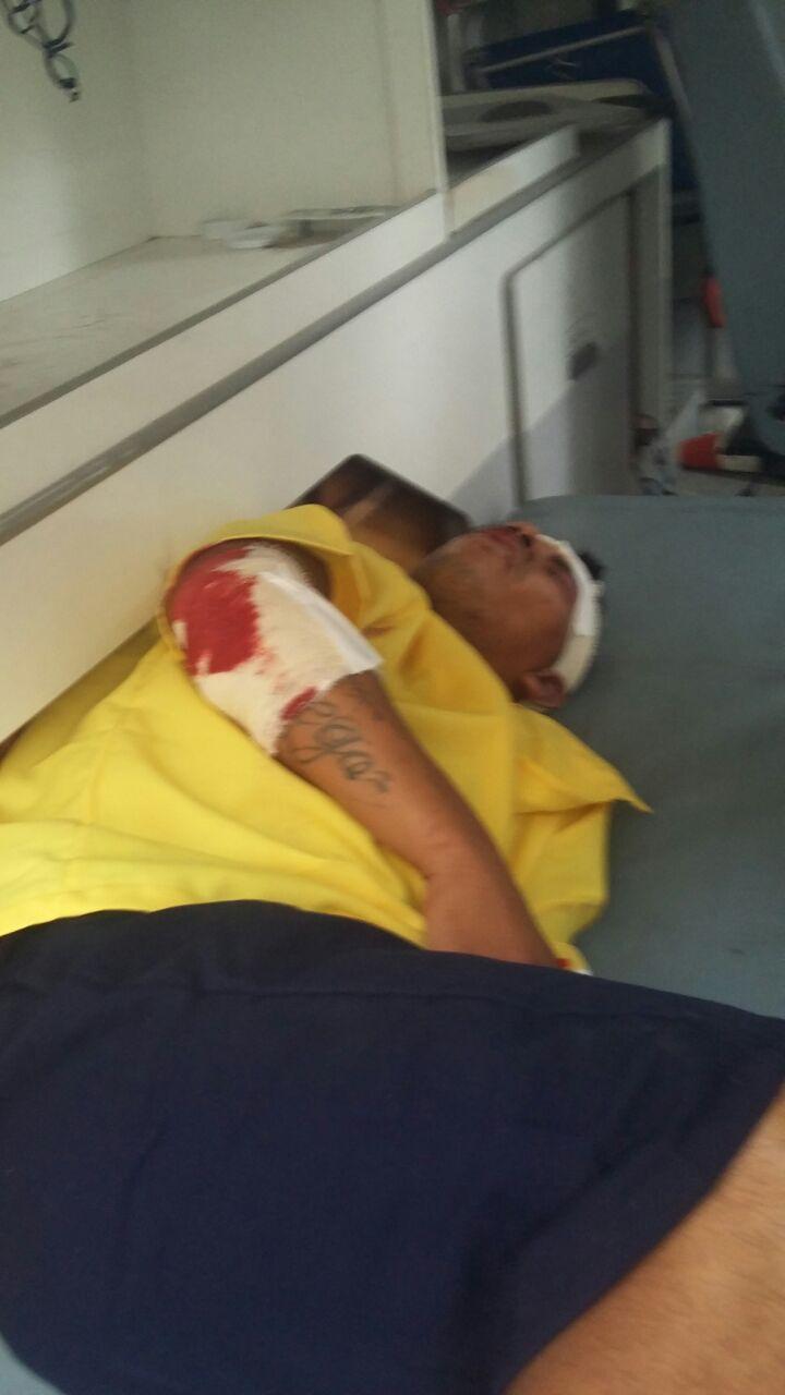Diego sofreu uma agressão na quinta (17/11), e foi atendido no Hospital João Lúcio