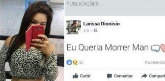 Larissa Beatriz Dionísio de Morais sofreu um acidente fatal