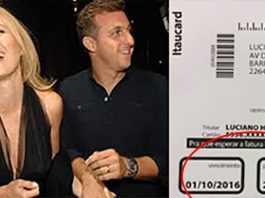 fatura do cartão de crédito de Huck e Angélica