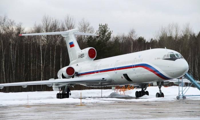 Imagem de janeiro de 2015 mostra uma aeronave Tu-154, do mesmo modelo do avião acidentado - Dmitry Petrochenko / AP