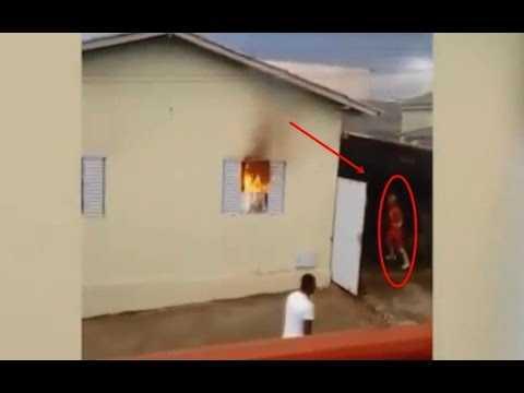 Carreta Alegria salva família durante incêndio