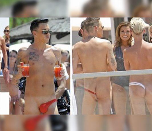 """Um novo tipo de sunga promete desembarcar no Brasil ainda esse ano é o """"fio dental masculino"""""""