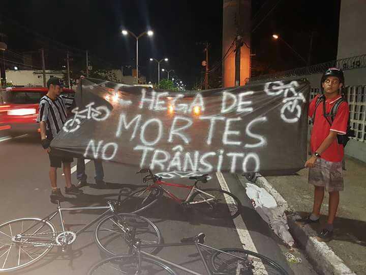 Grupo realizam ato após morte de ciclista - Imagem de divulgação