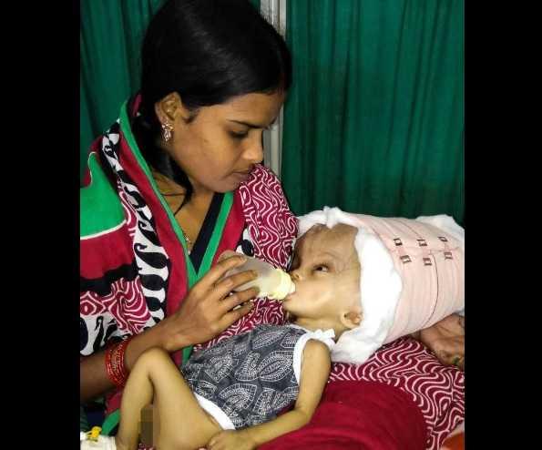 Depois de vários exames e ajuda financeira, os pais conseguiram pagar pelo tratamento - Imagem : CNN