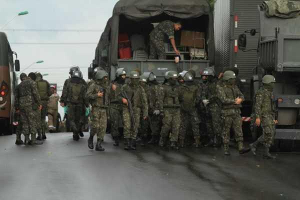 Exército, Força Nacional e Polícia Militar revistam a Cadeia Pública Desembargador Raimundo Vidal Pessoa / Divulgação