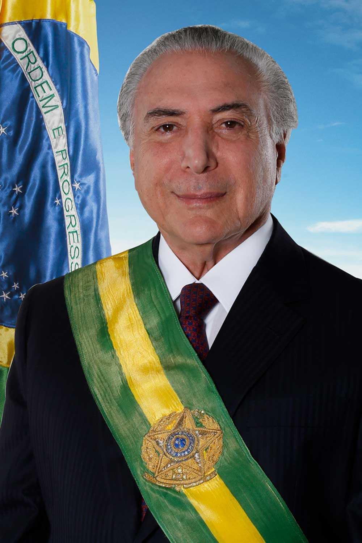 Foto oficial do presidente Michel Temer (Foto: Divulgação / Orlando Brito)