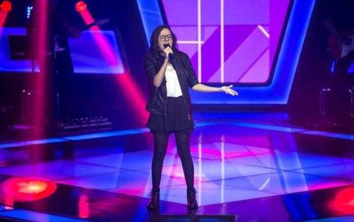 Marcella Bártholo no palco do The Voice Kids / Foto: Isabela Pinheiro/Gshow/Divulgação
