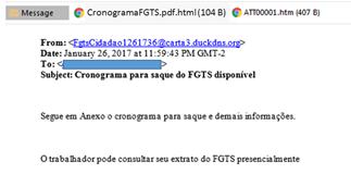 Novo golpe online promete calendário de saque do FGTS para roubar dados bancários de vítimas