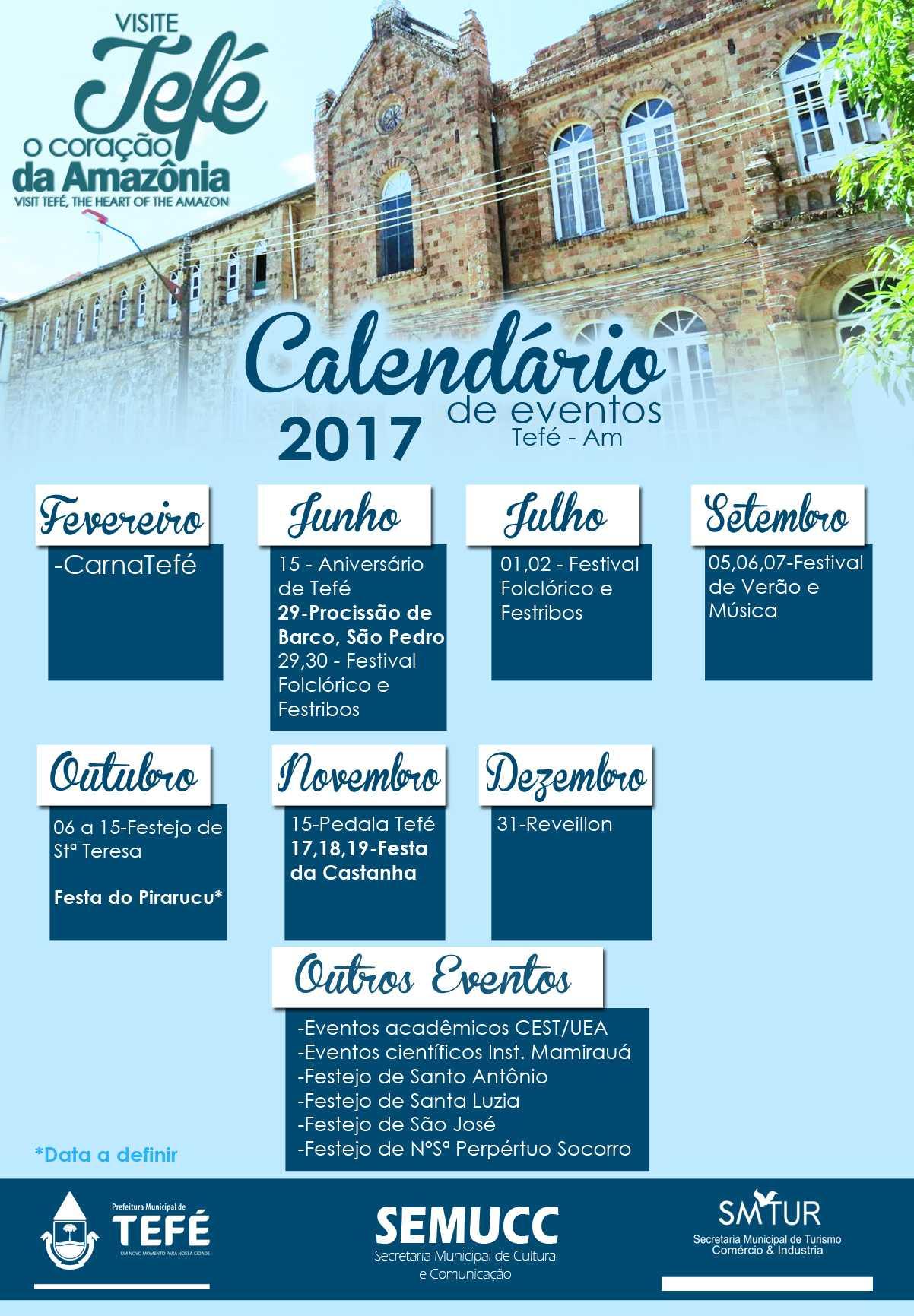 Calendário Oficial das festas da cidade de Tefé