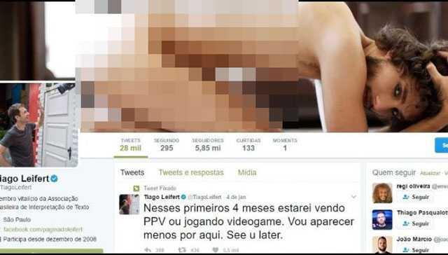 Tiago Leifert usa foto de ex-BBB no perfil do Twitter/Foto: Reprodução Twitter