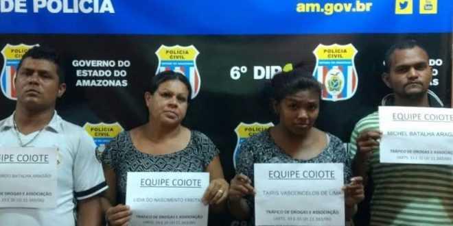 Traficantes são presos em flagrante com drogas no bairro Nossa Senhora de Fátima / Divulgação