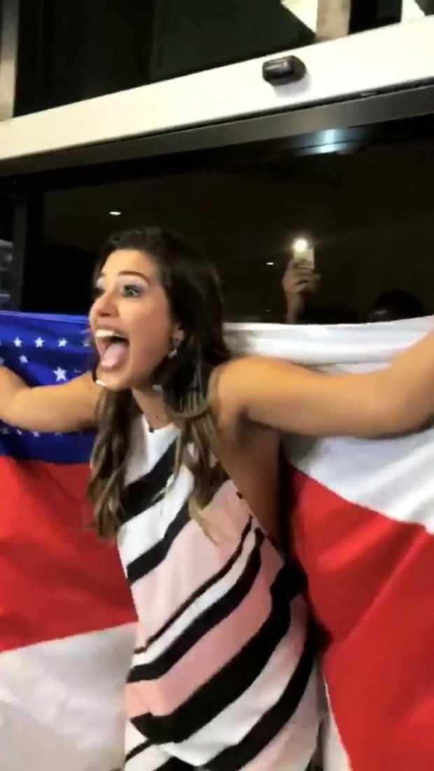 Ex-BBB Vivian Amorim se surpreende com a quantidade de pessoas no aeroporto