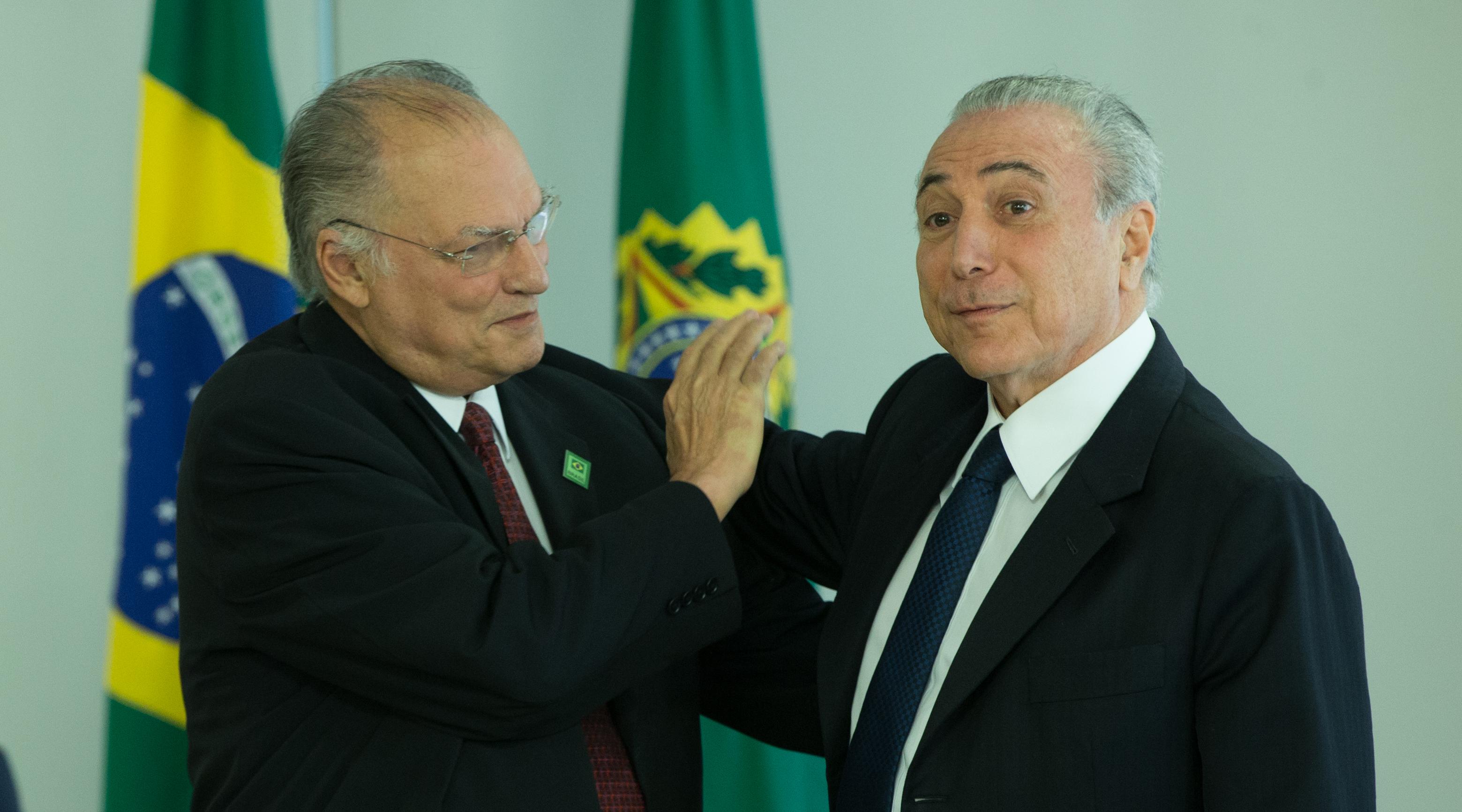 Brasília- DF 23-11-2016 Presidente, Temer durante Cerimônia de posse do ministro da Cultura, Deputado Roberto Freire Palácio do PlanaltoFoto Lula Marques/AGPT
