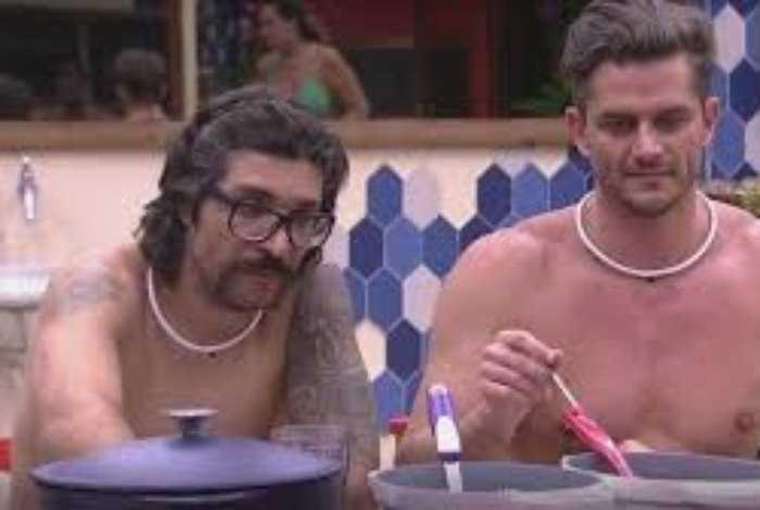 Ilmar e Marcos, no 'BBB17' Reprodução TV