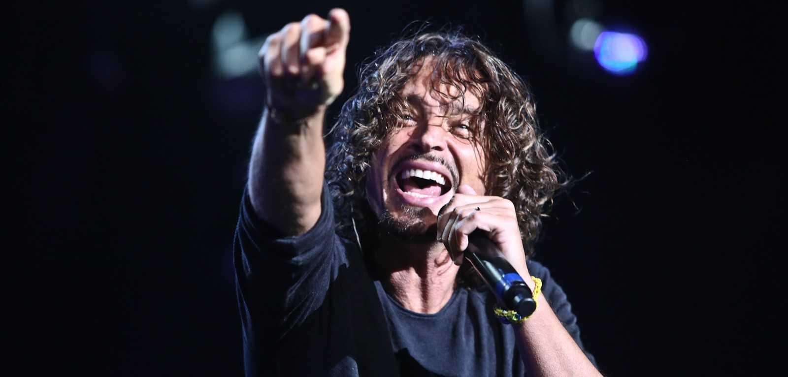 Chris Cornell canta com o Soundgarden no Lollapalooza 2014, em São Paulo (Foto: Raul Zito/G1)