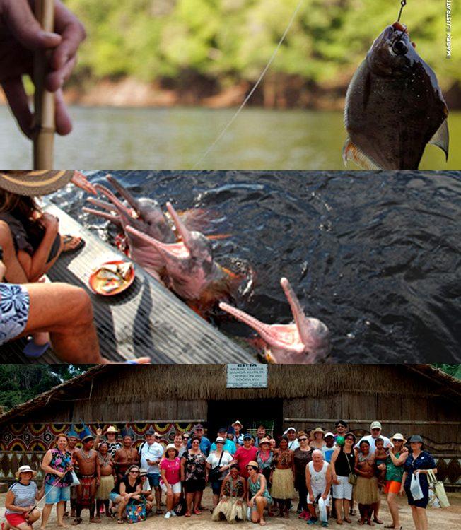 Passeio Turístico em Manaus : Nadar com Boto + Visita à Tribo Indígena